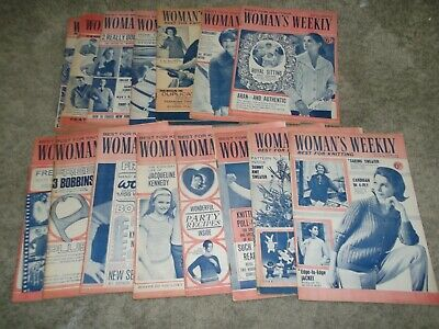 15 womans weekley magazines vintage 1960's queen mother knitting