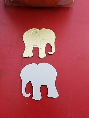 """BN Card Making Toppers /Celebration Die Cut Gold """"Elephants"""""""