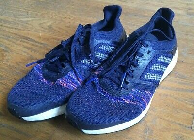 Pre-Owned Used Adidas Mens Ultraboost ST Running Shoes Size 10 Purple/Blue
