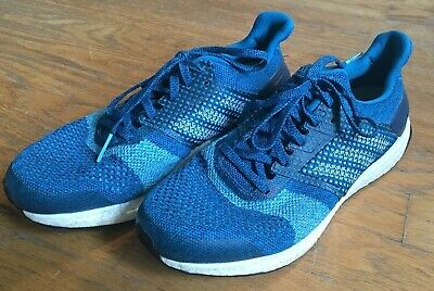 Pre-Owned Used Adidas Mens Ultraboost ST Running Shoes Size 10 Blue/Neon Blue