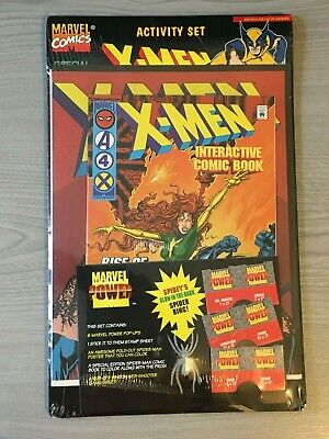 New Sealed Marvel X-Men Activity Set Interactive Comic Book Spiderman Poster