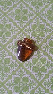 Vintage Glass Realistic Acorn Button