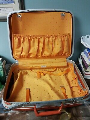 Vintage SAMSONITE Silhouette  Suitcase Retro Orange Luggage