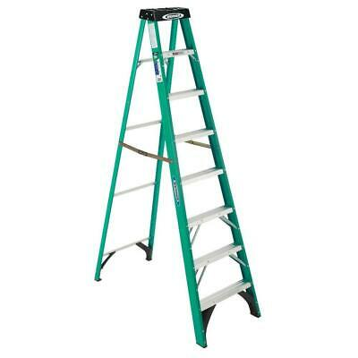 Awesome Werner 8 Ft Fiberglass Step Ladder Folding 225 Lb Load Alphanode Cool Chair Designs And Ideas Alphanodeonline