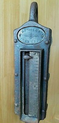 Antique 200 Pounds Chatillon's Iron Clad Spring Scale Cast Metal Animal Farm Ice