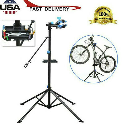"""Pro Bike Adjustable 51"""" To 75"""" Repair Stand w/ Telescopic Arm Cycle Bicycle Rack"""