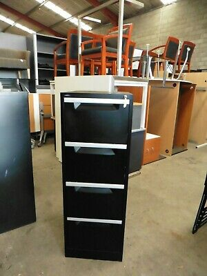 Office Black 4 X Drawer Filing Cabinet Brisbane