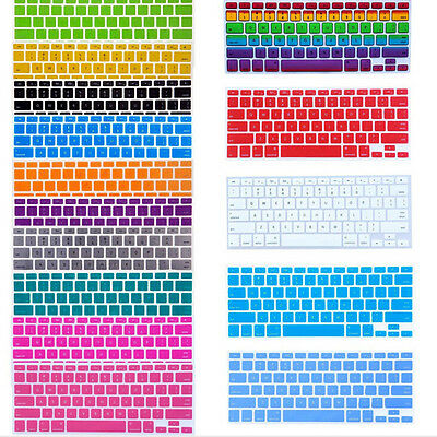 Silicone Keyboard Cover Skin Cleaner Kit For Apple Macbook Pro MAC 13/15/17/Air