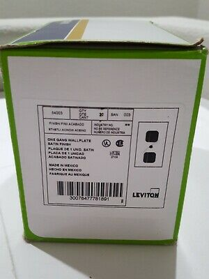 Leviton 84003 Silver Stainless Satin Duplex Outlet Wall Plate Cover (Lot of 20)