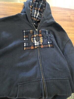 Dc Boys Size 16, Blue Jumper, Windcheater In Excellent Condition.