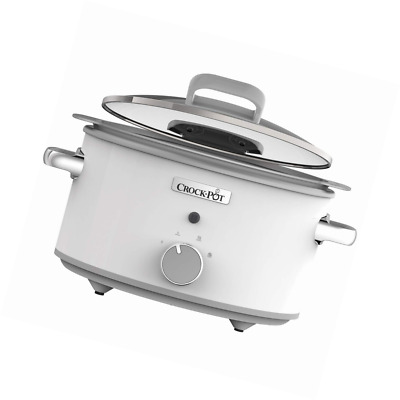 Crock-Pot CSC038 DuraCeramic Slow Cooker with Hinged Lid, Anti-Stick & Easy Clea