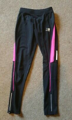 Girls Karrimor Age 11 12 Black & Pink Jogging Pants Leggings Running Sports