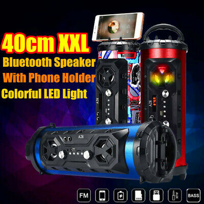 40cm LED bluetooth Speaker Wireless FM Stereo Loud Super Bass Subwoofer AUX USB