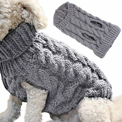 Small Dog Knit Warm Sweater Jacket Pet Cat Puppy Coat Clothes Costume Apparel