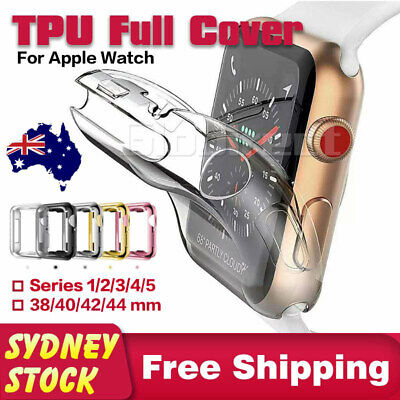 For Apple Watch iWatch Soft TPU Case Full Cover 38/40 42/44 mm Series 5 4 3 2 1