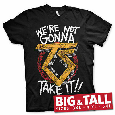 Licensed Twisted Sister - We're Not Gonna Take It BIG & TALL 3XL,4XL,5XL T-Shirt