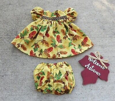 """Handmade Doll Clothes for 18"""" - 20"""" Baby Dolls - """"Fall in Indiana"""" Dress Set"""