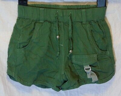 Girls Next Khaki Green Elasticated Waist Soft 100% Viscose Shorts Age 5 Years