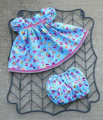 """Handmade Doll Clothes for 18"""" - 20"""" Baby Dolls - """"Yummy! Whoppie Pies"""" Dress Set"""