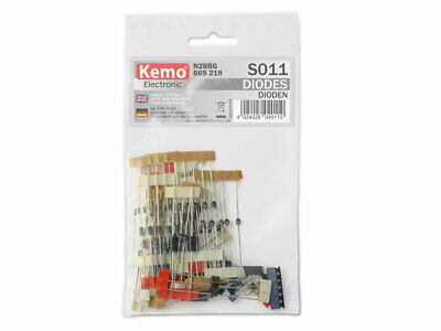 Diodes assortment Selection Kemo S011 Mixed Values 100pc