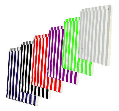"""CANDY STRIPE PAPER BAGS SWEET FAVOUR BUFFET GIFT SHOP PARTY SWEETS 10"""" x 14"""""""