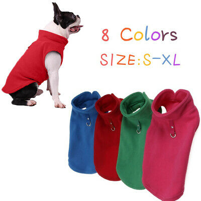 Fleece Harness Pet Vest Jacket Jumper Sweater Coat for Small Medium Large Dogs