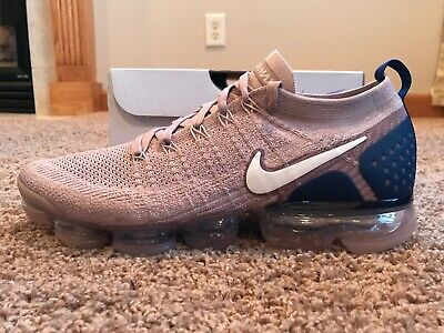 Nike Men's Air Vapormax Flyknit 2 Diffused Taupe Phantom Size 11 942842 201