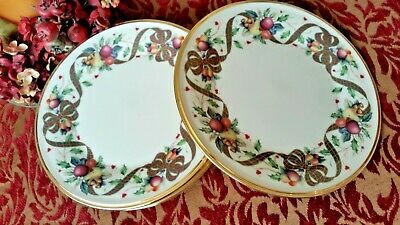 LOT/ 6 beautiful LENOX china HOLIDAY TARTAN Dimension 8 1/4 SALAD plates MINT!!