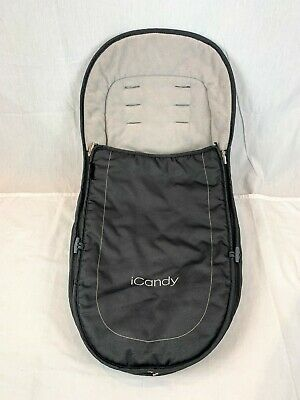 iCandy Peach Footmuff in 'Truffle' grey with Non Slip Back.  Excellent Condition