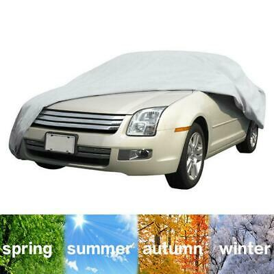 NEW Medium Car Cover Silver/Grey Breathable UV Protection Waterproof Cover