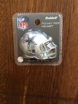 Dallas Cowboys Riddell Pocket Size Helmet NFL Football New In Package