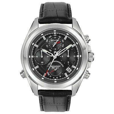 Bulova Men's Precisionist Quartz Chronograph Date-Calendar 44mm Watch 96B259