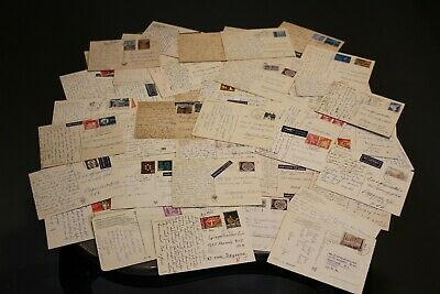 Retro Vintage Lot 55 Postcards 1960-1980s Handwritten Messages Stamps Posted