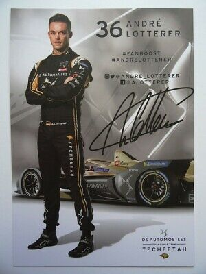 André Lotterer DS Techeetah Formula E card (2)