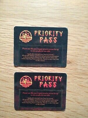 Alton Towers Wickerman Priority Pass X2