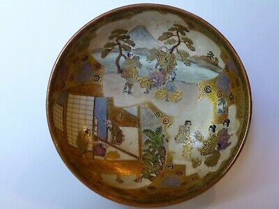 Antique Japanese Satsuma Pottery Bowl - Meiji Period - Stunning Artistry