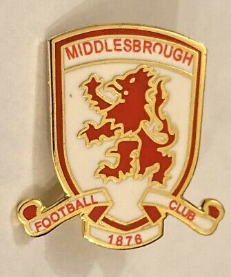 MIDDLESBROUGH CLUB CREST Collectable Football PIN BADGE