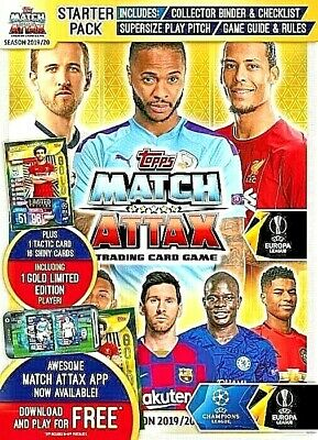 Match Attax Champions & Europa Leagues 19/20 Full Set In Folder 415 Cards Total