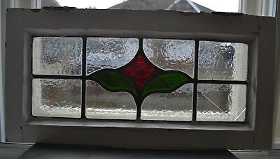Leaded light stained glass window sash fanlight / suncatcher. B882a.
