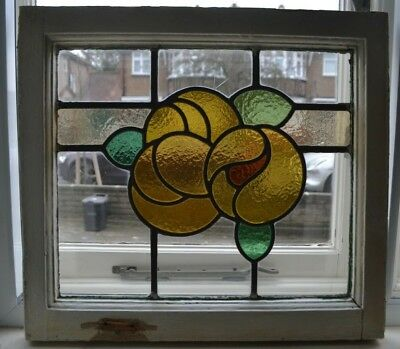 British leaded light stained glass window sash suncatcher. B676a.