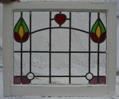 Leaded light stained glass window sash fanlight suncatcher. B766m.