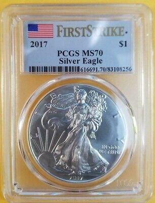 2017 American Silver Eagle MS70 PCGS First Strike