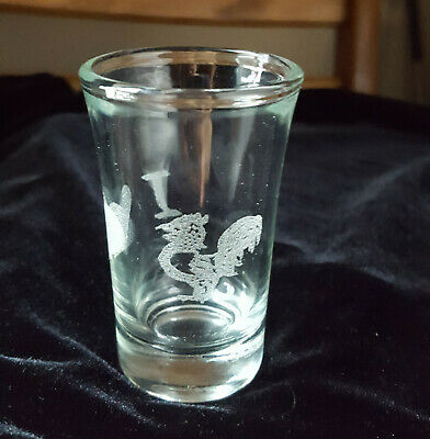 I ❤️ 🐓Shot Glass 1.5 oz Etched Glass
