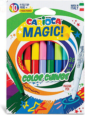 Carioca Stereo Magic 20 Special Erasable Change Color Ink Markers Made in Italy