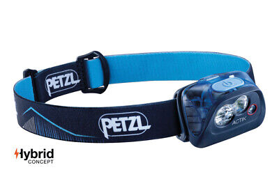 Petzl ACTIK 350 Lumens Headlamp Blue Lightweight Men's Women's Running Lamps