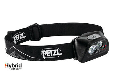 Petzl ACTIK 350 Lumens Headlamp Black Lightweight Men's Women's Running Lamps