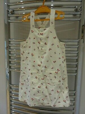 BNWOT Pretty girls fine cord pinafore dress from M&S age 6 - 7 years