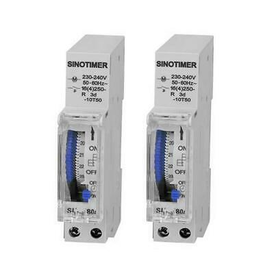 SUL180 DIN Rail Time Switch 24 Hours Programmable Mechanical Timer Switch H1