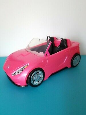 Barbie Glam Convertible Pink Car Doll Mattel Shiny Glitter Sparkle