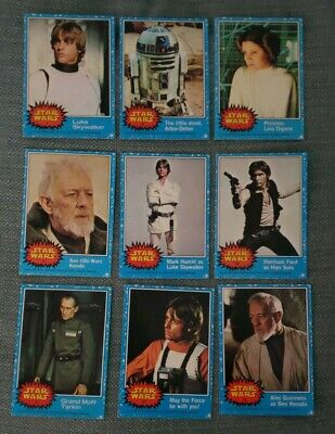 1977 Topps Star Wars 1st Series 1 Complete 66 Blue Card Set ExMT OR BETTER